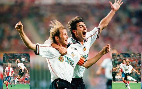 Gol de Mendieta en la final de Copa del Rey
