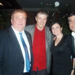 Con Víctor Hugo, Adela y José Luis Leache.