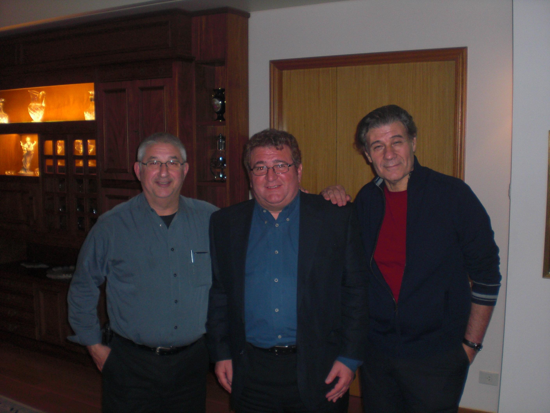 Junto a Adrián Paenza y Víctor Hugo Morales.