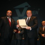 Con Fernando Perea, presidente de la Asociación de la Prensa Deportiva de Cádiz.