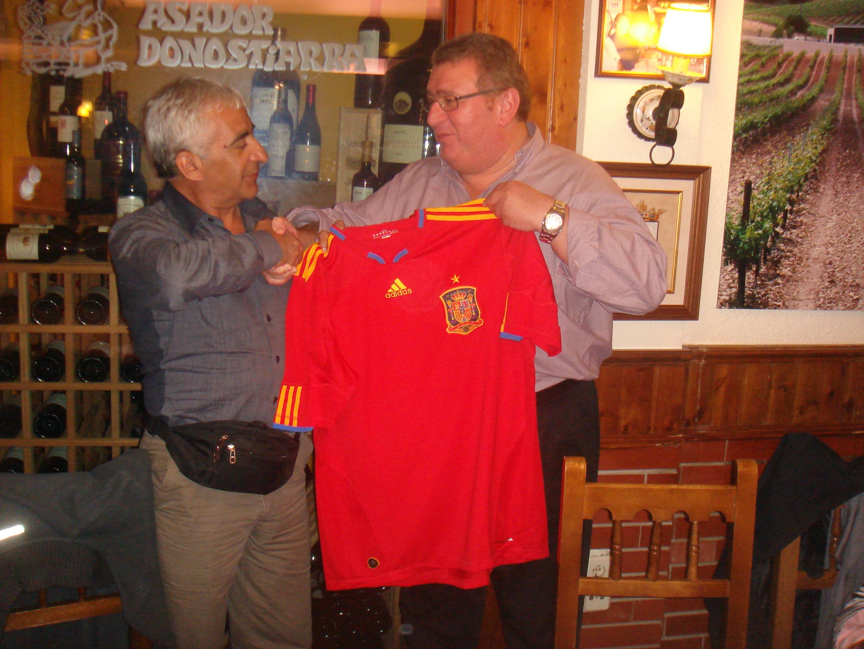 Con Omar Reigadas en el Asador Donostiarra.