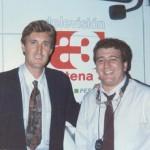 Con Antonio Maceda antes de narrar mi primer partido de TV.
