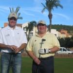 Con el campeón José Manuel Lara, jugando al golf en el Marriott en Denia.