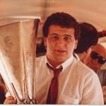 Con la Copa de la Uefa del 85, regresando de Budapest.