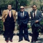 Junto a Matías Prats y Manuel Rosety.