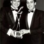 Con Miguel Ángel García Juez y el premio Liderman.