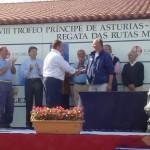 Con su Majestad el Rey, en Baiona.