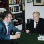 Con Don Vicente Acevedo, en su domicilio de Cuenca.
