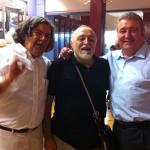 Con Moncho Borrajo y Antonio del Castillo.