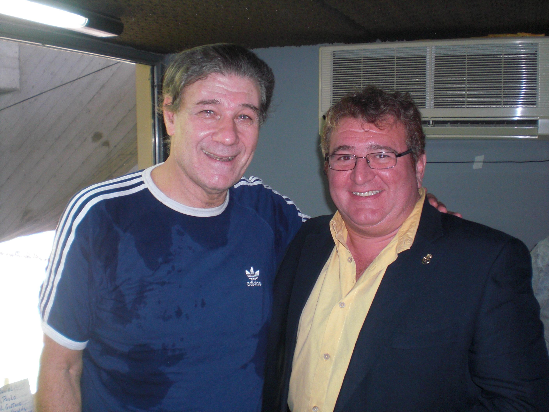 Con Victor Hugo Morales en La Bombonera.