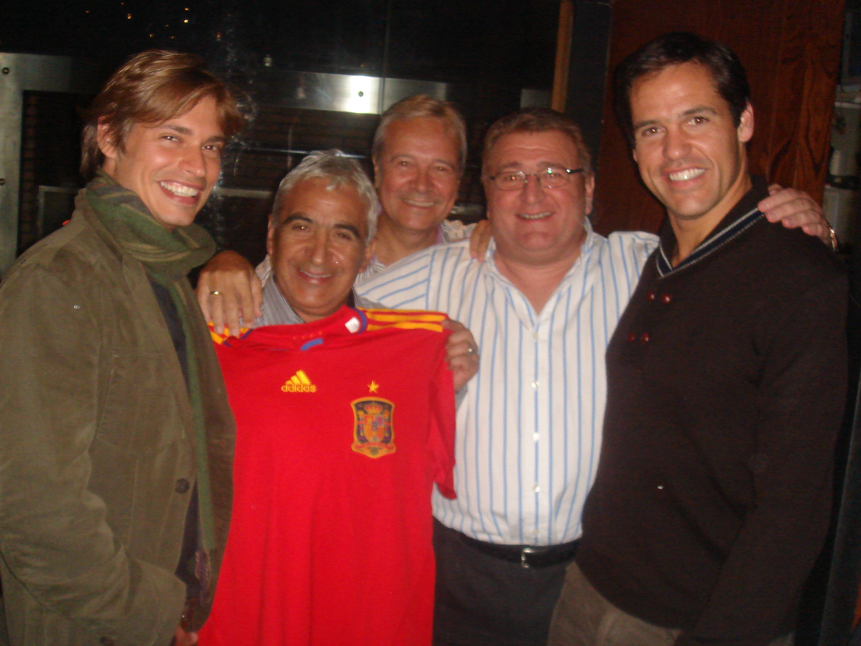Con Carlos Baute, Omar Reygadas, Paco Nares Y Luis Alfonso de Borbón.