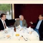 Con Domingo Balmanya  (QEPD) y Luis Suárez en el Hotel Barcelona Plaza.