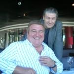 Con Víctor Hugo Morales en el Restaurante Rod Point, Buenos Aires.