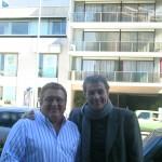 Con Víctor Hugo Morales en la Avenida del Libertador en Buenos Aires.