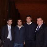 Con Fernando Vázquez, Ricardo Rosety y Mejuto González.