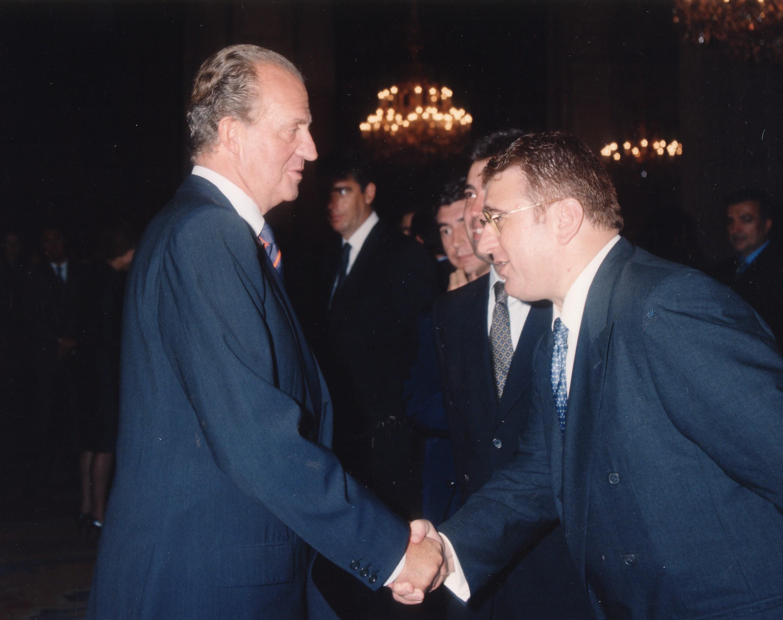 Con Su Majestad el Rey, en los Premios Nacionales del deporte.