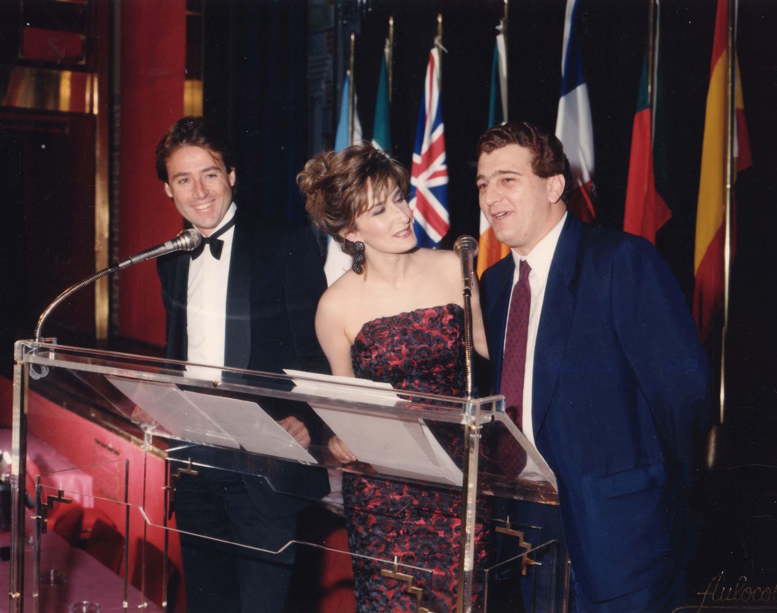 Con Matías Prats y Nieves Herrero en una gala.