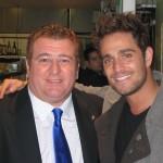 Con Michel Brown, actor.