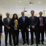 En la Universidad Europea de Madrid con Vicente Del Bosque y el presidente Miguel Carmelo.