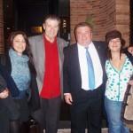 Con Víctor Hugo Morales, Fabiana y Cinthia.