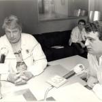 Con Don Nelson, entrenador de la NBA.