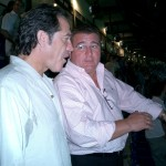 Con Pepe Navarro en el Santiago Bernabéu.