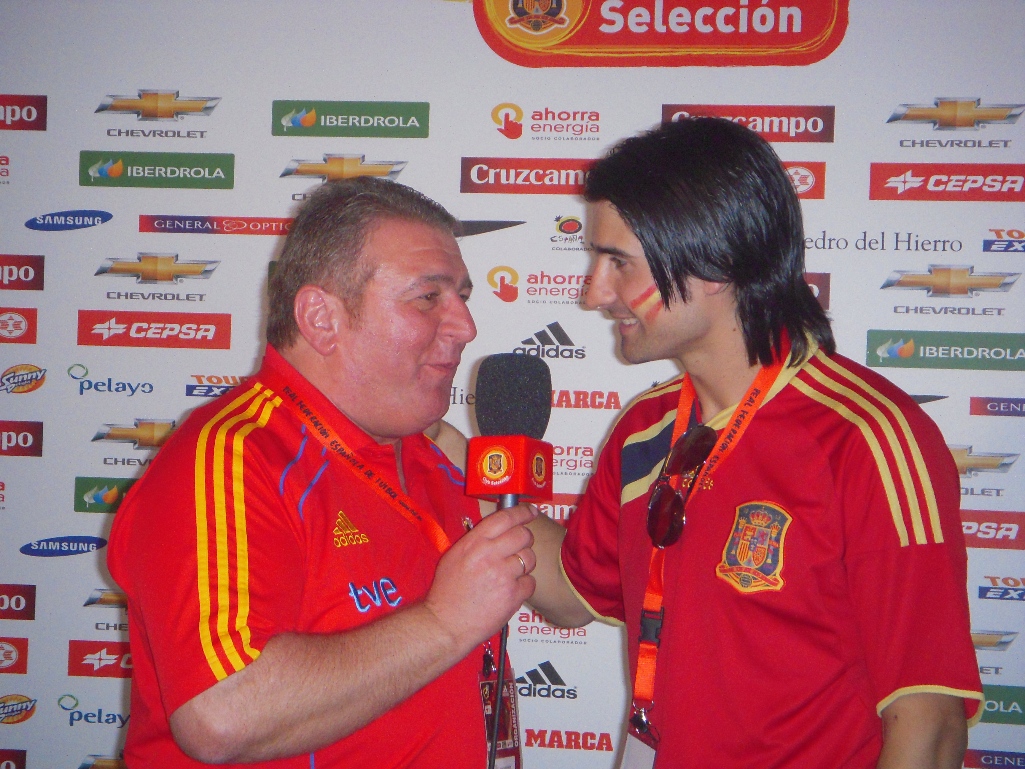 Con Rubén De la Red  www.clubseleccion.tv