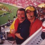 Con Kiko Narváez, narrando el Mundial 2002.