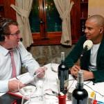 Entrevistando a Ronaldo.