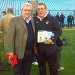 Con Jorge Amor, presidente de Boca Juniors.
