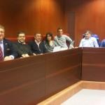 Con mis companeros del Master en Derecho del Deporte.