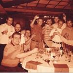 Con un grupo de periodistas en el Mundial 94.