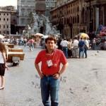En Piazza Navona, Italia. Mundial 90.