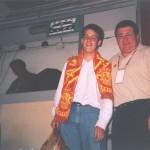 En La Romareda en 2003 con un aficionado.