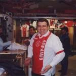 En el Arena de Amsterdam con la camiseta del Ajax.
