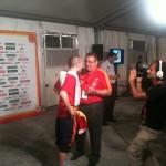 Con Andrés Iniesta en Clubseleccion.tv