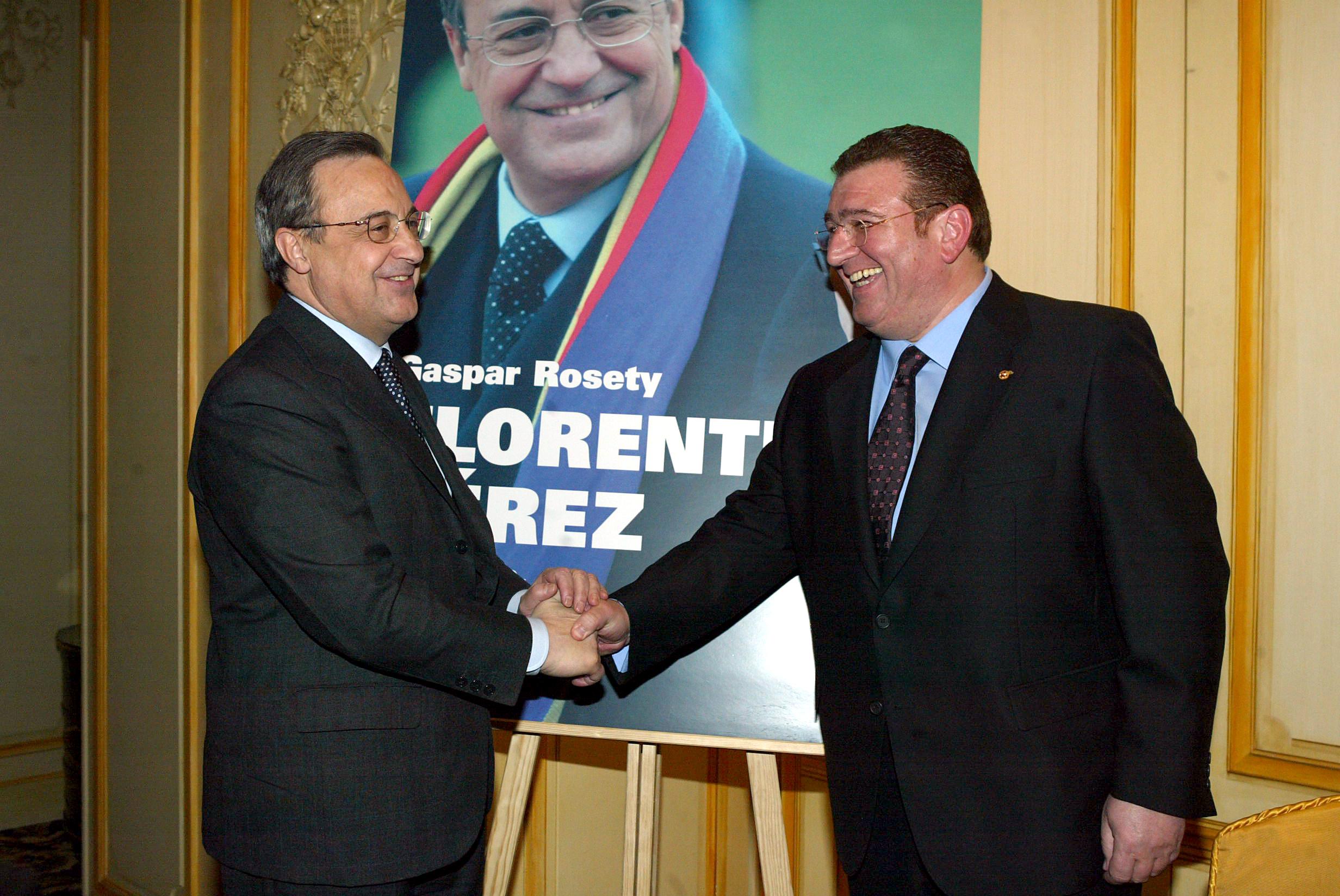 Junto a Florentino Pérez en la presentación del libro.