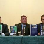 Junto a Florentino Pérez y Emilio Butragueño en la presentación del libro.
