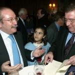 Con Luis del Rivero, presidente de Sacyr-Vallehermoso.