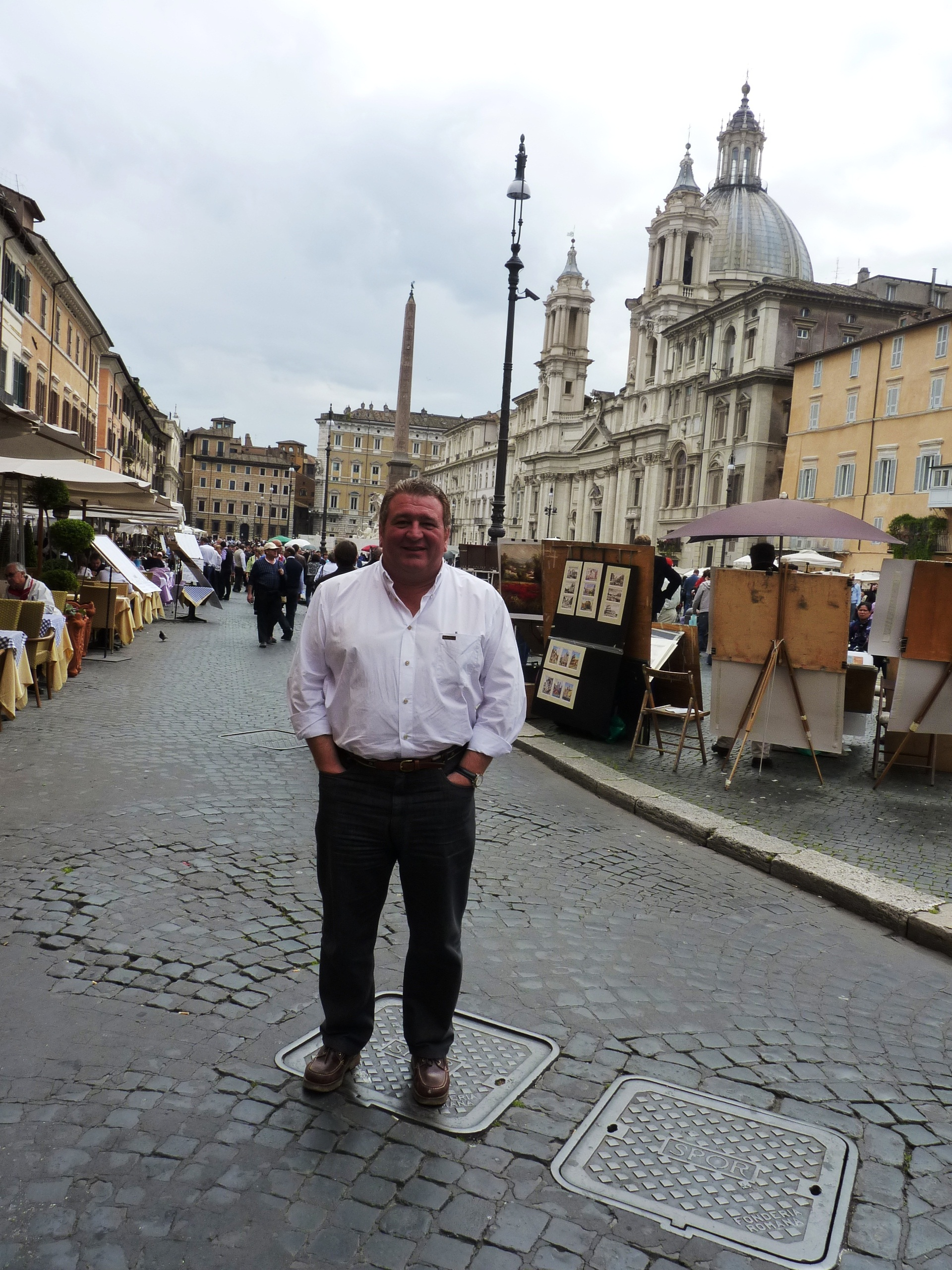 En Piazza Navona, Italia.