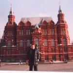 En la Plaza Roja de Moscú.