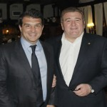 Junto a Joan Laporta, ex-presidente del F.C. Barcelona.