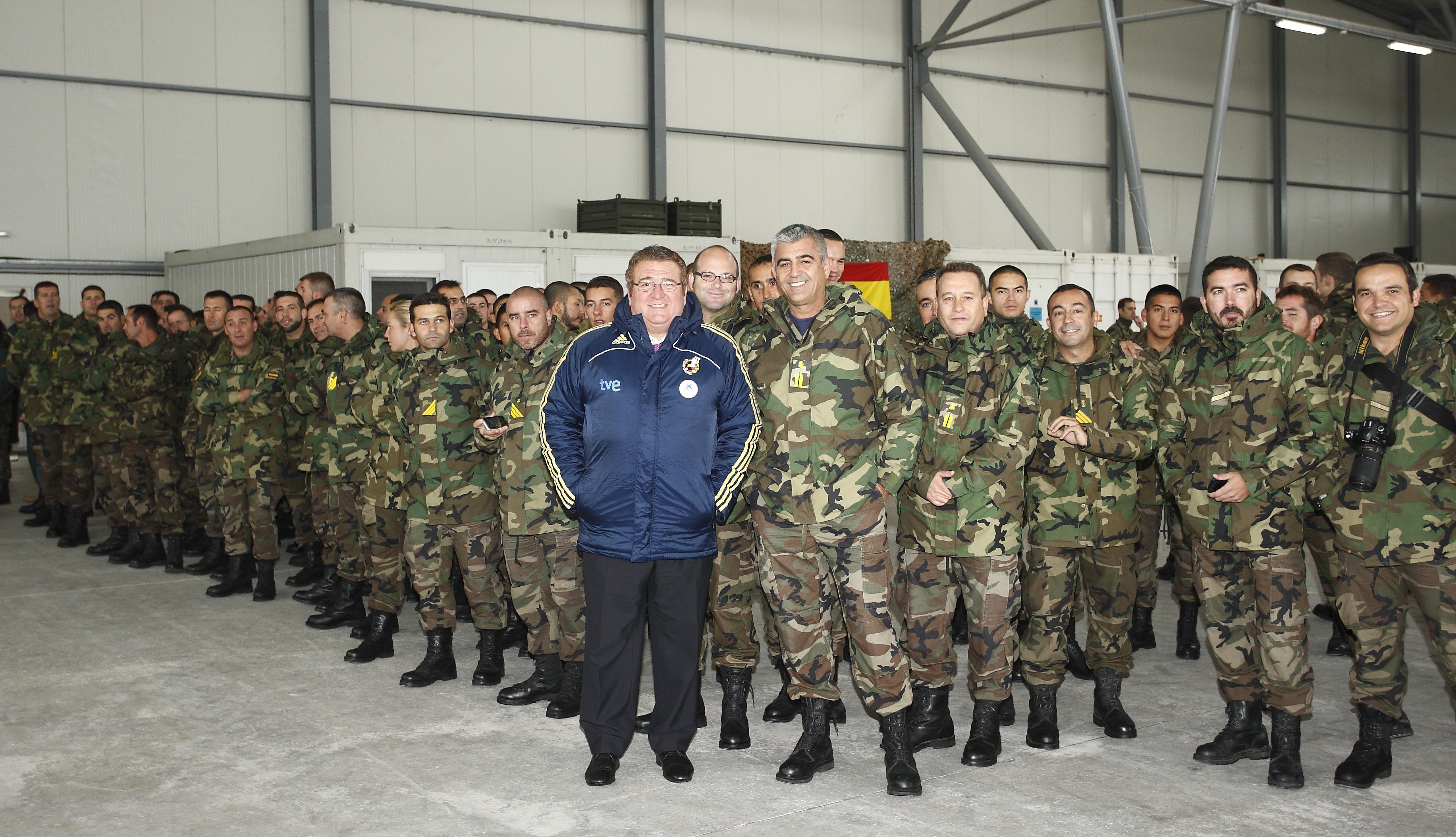 Junto a las tropas españolas destinadas en Sarajevo.