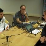 Entrevistando a David Villa, junto con Menayo.