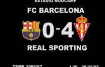 F.C. Barcelona 0 – R. Sporting de Gijón 4