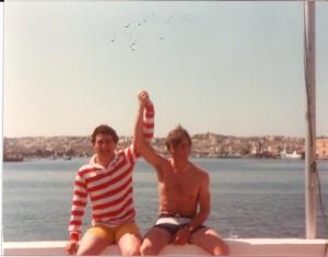 Con Luis Balduque en Malta 83