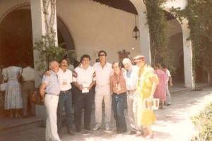 En México, con José María García y otros. 1986.