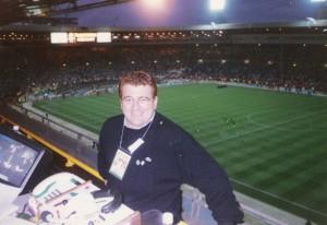 En el estadio de Wembley en la final de la Eurocopa 1996.