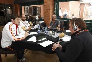Entrevistando a Iker Casillas.